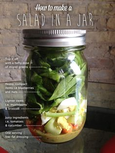 How to Make a Salad in a Jar - the easiest grab and go lunch ever! Make a weeks worth of lunches in 15 minutes.