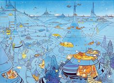 "Voyage d' Hermes Jean ""Mœbius"" Giraud @Science Fiction — archatlas"