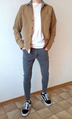 Vans old skool skinny jeans boys guys outfit vans love Stylish Mens Outfits, Cool Outfits, Casual Outfits, Men Casual, Guy Outfits, Fashion Outfits, Vans Outfit Men, Shirt Outfit, Skater Outfits