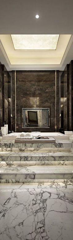 #Marmor #Treppen sind nicht nur atemberaubend schön, sondern auch pflegeleicht und langlebig.  http://www.marmor-deutschland.com/marmortreppen-noble-marmortreppen