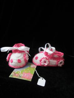 Baby Girl Car Booties. Crochet Baby Girl Booties. by MILAVIKIDS, $23.50