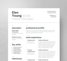 Swiss Resume Template Cover letter Reference by ResumeAngels It's a resume template with clean and creative Swiss style look. The design is minimalistic and professional. Very easy to work with, fully editable Microsoft Word file You can change anything, (from colors and fonts to layout and section order) and customize it to Your needs. Step by step instructions and guides to follow are included in additional files.