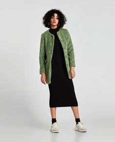 ZARA - NEW COLLECTION - COLOURED FAUX FUR COAT