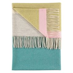 Lambswool Throw - Eloise Teal @ Howkapow