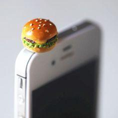 Kawaii/Cute Cheese Burger Iphone Earphone Plug/Dust by 868shop, $6.50