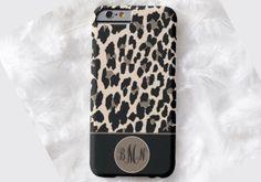 LEOPARD Monogram Cell Phone Case, iPhone 6 case, Note 4 case, leopard phone case, iPhone 6 plus cell phone case, iPhone 6 plus case, S6 #651 by DesignsbyLiv15 on Etsy