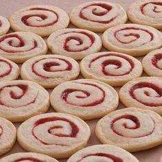 Raspberry Spiral Cookies #desserts