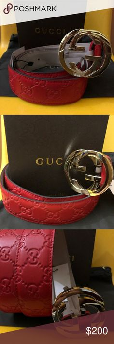 100% Real Gucci Men Red Guccisima Belt 50%Off! Selling 100% Authentic Gucci belts made in Italy. Comes with Box, Dustbag, and Brand New belt w/tag. 1-2 days to ship. Fast shipping! I do bundle orders. Buy more for more discount! No lowballers please. Lowballing will be ignored.  Follow me for updates on more Gucci listings on my closet. Updated daily! Gucci Accessories Belts