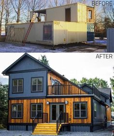 Shipping Container Home Designs, Shipping Containers, Shipping Container Buildings, Shipping Container Cabin, Building A Container Home, Container Home Plans, Casas Containers, Tiny House Design, My Dream Home