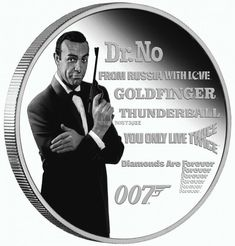 Amazon Image, Sean Connery, Effigy, Movie Releases, White Image, Coin Collecting, 1 Oz, Silver Coins, James Bond