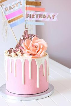 Pink drip cake - Cake by Sweetly Cakes