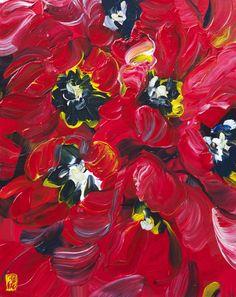 TITRE | TITLE : Bobbi Burgers -Tulip Study #8 br / DATE : 2013br / MEDIUM : Acrylique sur toile / Acrylic on canvas br / DIMENSIONS : 20 x 16