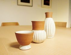Check out our sake set ... organic feel and touch! #atomi #toshiyuki #kita #sake #set