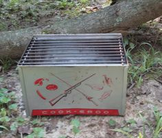 Mid Century COOK-EROO By Eclipse. Toy Portable Charcoal Grill. Made in U.S.A by…