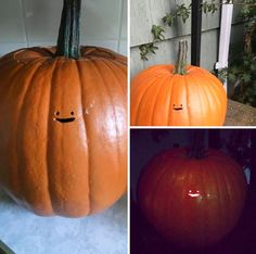 This Jack-O'-Lantern's Tiny Face Is The Laziest Pumpkin Carving Ever