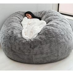 Room Ideas Bedroom, Teen Bedroom, Bedroom Decor, Bedrooms, Master Bedroom, Dream Rooms, Dream Bedroom, Bean Bag Bed, Giant Bean Bag Chair