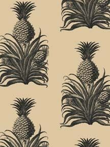 #PDFallGiveaway  What says hospitality more than the pineapple? In 18th-century England it was the ultimate dazzling treat for fortunate guests. As a wallpaper the treat is visual, but no less dazzling.