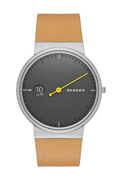 Skagen 'Ancher' Leather Strap Watch, 40mm available at #Nordstrom