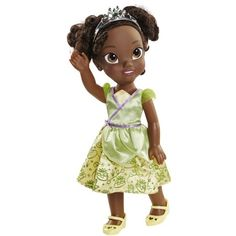 Disney Princess Royal Toddler Doll Tiana Girl African American Baby Doll Toy New Disney Princess Toddler Dolls, Disney Baby Dolls, Baby Disney Characters, Disney Babys, Baby Doll Toys, Princess Tiana, Baby Girl Dolls, Tangled Princess, Princess Bubblegum