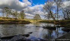 River Calder at Hagg Wood, Burnley, Lancashire, England. February 2015.