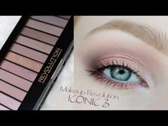 Dressed in Mint: Makeup Revolution ICONIC 3 - tutorial + swatche
