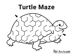 Turtle Classroom, Classroom Tools, Classroom Themes, Mazes For Kids Printable, Worksheets For Kids, Free Printables, Preschool Lesson Plans, Free Preschool, Reptiles Preschool