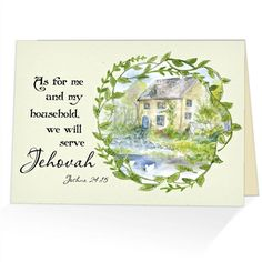 108 best scriptural greeting cards images on pinterest cards we will serve jehovah joshua 2415 scriptural greeting card m4hsunfo