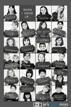 """Great """"when I grow up""""photo!I'll do this with my pupils :-)"""