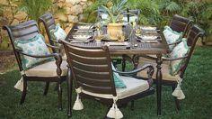 British Colonial 7-pc. Rectangular Dining Set