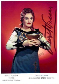 Nilsson, Birgit - Signed Photo as Isolde