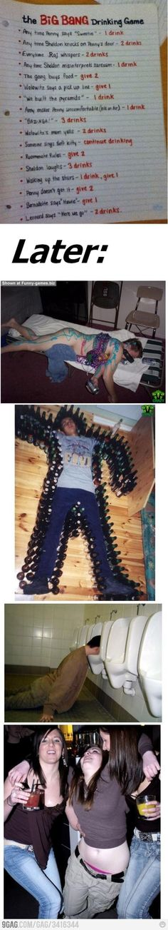 Alcohol poisoning in 5...4...3...  #bigbangtheory drinking game