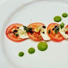 Roma tomatoes bocconcini dehydrated olives balsamic pearls basil Aioli Sencha salt #dineoutvan #dineoutvancouver #twitter