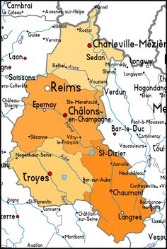 Map of Champagne