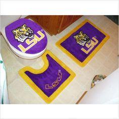 Lsu 3 Pc Bath Set Use The Bathroom Like A Tiger
