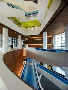 HASSELL winds a series of staircases through medibank building in melbourne