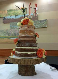 Another Naked Wedding Cake