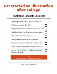 Art School Graduates: A Checklist for Aspiring Illustrators | Kiri Østergaard Leonard