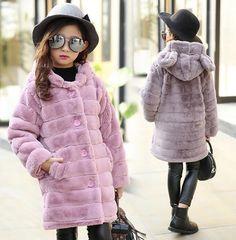 Outerwear Esprit Black Faux Fur Girls Coat Size 3t The Latest Fashion