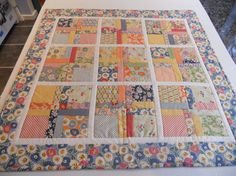 Patchwork Baby Quilt Table Topper Retro by ForgetMeNotQuilteds, $75.00