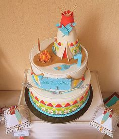 Anniversaire Cow-boy, Camping With A Baby, Woodland Cake, 4th Birthday Cakes, Fondant, Cupcakes, Desserts, Orange, Cakes