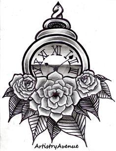 roman_numeral_watch_tattoo_design_by_artistryavenue-d8idq0m.jpg (1024×1325)