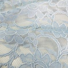 14 UK Pounds 45% Cotton 55% Nylon 137cm wide Corded Italian lace with a double scalloped edge. Lightweight and really soft.