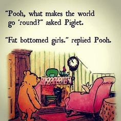 Pooh is in the know?!! Pooh!! Haha