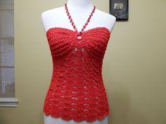 Tutorial para tejer esta blusa muy facil y practica para hacerla como vestido, con 75 grs. de hilo Crystal
