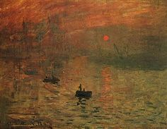"""Claude Monet, Impression. Soleil levant, 1872 The painting that coined the term """"Impressionist"""""""