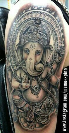 Ganpati Tattoo..so Beautiful