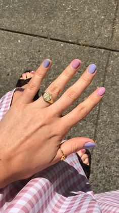 Cute Acrylic Nails, Cute Nails, Pretty Nails, My Nails, Minimalist Nails, Manicure Y Pedicure, Funky Nails, Dream Nails, Hair Skin Nails