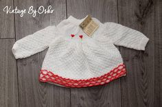 Vintage knitted dress HANDMADE Knitted Baby DressBaby knit