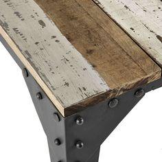 Tavolo basso in mango e metallo L 130 cm