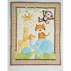 Garanimals Animal Antics 3-Piece Crib Bedding Set, Multicolor